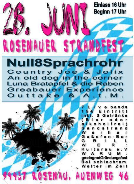 live: 28.juni @ strandfest rosenau